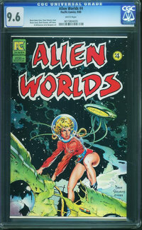 Alien Worlds #4 (Pacific Comics/Eclipse, 1983) CGC NM+ 9.6 White pages