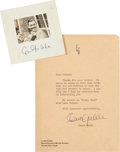 Movie/TV Memorabilia:Autographs and Signed Items, A Clark Gable Pair of Signed Items, 1938-1941....