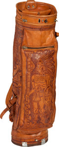 Movie/TV Memorabilia:Instruments , An Ernest Borgnine Beautiful Mexican Handtooled Leather Golf Bag, 1970s....