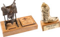 Movie/TV Memorabilia:Awards, An Ernest Borgnine Pair of 'Western' Awards, 1980s-2000s....