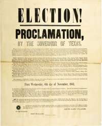 1861 Confederate Election Proclamation