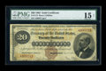 Large Size:Gold Certificates, Fr. 1174 $20 1882 Gold Certificate PMG Choice Fine 15 Net....