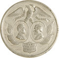 Political:Tokens & Medals, Lincoln & Johnson: An Impressive Large 1864 Jugate Campaign Medal. ...