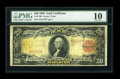 Large Size:Gold Certificates, Fr. 1180 $20 1905 Gold Certificate PMG Very Good 10....