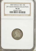 Bust Dimes, 1829 10C Small/Large 10C VF25 NGC. Ex: Jules Reiver Collection,JR-9. NGC Census: (2/207). PCGS Population (0/196). Mintag...