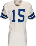 Football Collectibles:Uniforms, 1971-75 Toni Fritsch Game Worn, Signed Dallas Cowboys Jersey, MEARS A10....