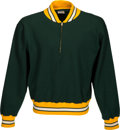 Football Collectibles:Uniforms, 1960's Green Bay Packers Game Worn Sideline Pullover Jacket....