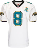 Football Collectibles:Uniforms, 1995 Mark Brunell Game Worn Jacksonville Jaguars Jersey and Pants - With Franchise 1st Year Patch....