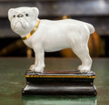 Ceramics & Porcelain, Continental:Contemporary   (1950 to present)  , A Continental Partial Gilt Porcelain Bulldog Figure, 20th century.6-3/4 h x 6 w x 2-3/4 d inches (17.1 x 15.2 x 7.0 cm). ...
