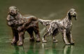 Decorative Arts, Continental, A Pair of Diminutive Silvered and Bronzed Metal Irish Setters, 20thcentury. 2 inches high (5.1 cm) (taller). ... (Total: 2 Items)