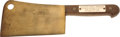 "Movie/TV Memorabilia:Awards, An Ernest Borgnine ""Marty"" Meat Cleaver Memento from ""This Is Your Life,"" 1956...."