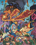 Memorabilia:Comic-Related, Alex Schomburg All Winners Signed Limited Edition Lithograph Print #4/150 (Buccaneer Graphics, 1984)....