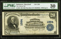 National Bank Notes:Maryland, Baltimore, MD - $20 1902 Plain Back Fr. 650 The Citizens NB Ch. #1384. ...