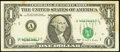 Error Notes:Shifted Third Printing, Fr. 1921-A $1 1995 Federal Reserve Note. Very Fine.. ...