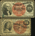15¢ and 25¢ Fourth Issues Very Good-Fine or Better
