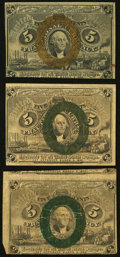 Fractional Currency:Second Issue, 5¢ Second Issue Fine or Better.. ... (Total: 3 notes)