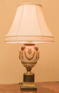Lighting:Lamps, A Wedgwood-Style Porcelain Vase Mounted as a Lamp, late 19th century. 28-1/2 inches high (72.4 cm). ...