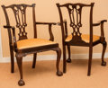 Furniture , A Pair of Chippendale-Style Carved Mahogany Armchairs, early 20th century. 38-1/2 h x 24 w x 20 d inches (97.8 x 61.0 x 50.8... (Total: 2 Items)