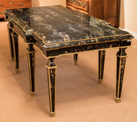 A Very Fine Dallas Designer Neoclassical-Style Portoro and Sienna Marble Salon Table, early 21st century 31-1/2 h