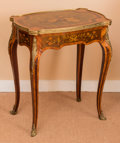 Furniture : French, A Louis XV-Style Gilt Bronze Mounted Marquetry Toilette Table,early 20th century. 27-1/2 h x 24 w x 16 d inches (69.9 x 61...