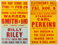 Music Memorabilia:Posters, Sun Recording Artists Concert Posters (1956 & 1957).... (Total:2 Items)