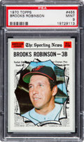 Baseball Cards:Singles (1970-Now), 1970 Topps Brooks Robinson All Star #455 PSA Mint 9 - None Higher....