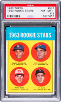 Baseball Cards:Singles (1960-1969), 1963 Topps Pete Rose - 1963 Rookie Stars #537 PSA NM-MT+ 8.5. ...