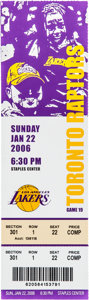 Basketball Collectibles:Others, 2006 Kobe Bryant 81-point Game Full Ticket....