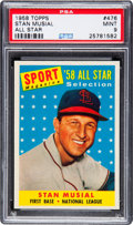 Baseball Cards:Singles (1950-1959), 1958 Topps Stan Musial All Star #476 PSA Mint 9 - None Higher! ...