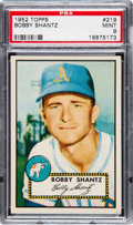 Baseball Cards:Singles (1950-1959), 1952 Topps Bobby Shantz #219 PSA Mint 9 - Pop Five, None Higher....