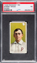 "Baseball Cards:Singles (Pre-1930), 1909-11 T206 Piedmont Sherry Magee ""Magie"" Error SGC 10 Poor 1 -The Most Famous Hobby Typo! ..."