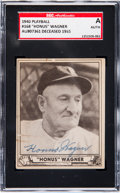 Baseball Cards:Singles (1940-1949), Signed 1940 Play Ball Honus Wagner #168 SGC Authentic....