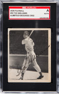 Baseball Cards:Singles (1930-1939), Signed 1939 Play Ball Ted Williams #92 SGC Authentic....