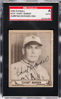 Baseball Cards:Singles (1940-1949), Signed 1940 Play Ball Chief Bender #172 SGC Authentic....