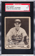 Baseball Cards:Singles (1940-1949), Signed 1940 Play Ball Mickey Cochrane #180 SGC Authentic....