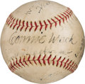 Autographs:Baseballs, 1940's Connie Mack Signed Baseball....