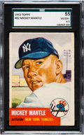 Baseball Cards:Singles (1950-1959), 1953 Topps Mickey Mantle #82 SGC 55 VG/EX+ 4.5....