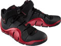 Basketball Collectibles:Others, 2007 LeBron James Game Worn, Signed Cleveland Cavaliers Shoes - Used 3/27 vs. Indiana....