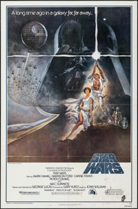 "Star Wars (20th Century Fox, 1977). Fourth Printing One Sheet (27"" X 41"") Style A. Science Fiction"