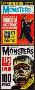 Movie Posters:Horror, Famous Monsters of Filmland #13 & 5th Anniversary Issue (Central Publications, 1961/1963). Magazines (2) (Multiple Pages, 8.... (Total: 2 Items)