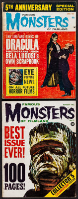 Famous Monsters of Filmland #13 & 5th Anniversary Issue (Central Publications, 1961/1963). Magazines (2) (Multiple P...