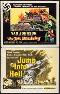 """Movie Posters:War, Jump into Hell & Others Lot (Warner Brothers, 1955). HalfSheets (4) (22"""" X 28""""). War.. ... (Total: 4 Items)"""
