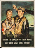 """Movie Posters:War, World War II Propaganda (General Cable Corporation, 1944). Poster(27"""" X 37"""") """"Under the Shadow of Their Wings."""" War.. ..."""
