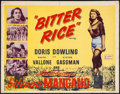 """Movie Posters:Foreign, Bitter Rice (Lux Film, 1950). Half Sheet (22"""" X 28""""). Foreign.. ..."""