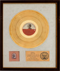 Music Memorabilia:Memorabilia, Beatles - George Harrison & Friends The Concert for BanglaDesh RIAA White Mat Gold Record Award from the Personal...