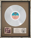 Music Memorabilia:Awards, Blues Brothers Briefcase Full of Blues RIAA Platinum SalesAward (Atlantic SD 19217, 1978)....