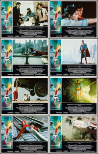 "Superman the Movie (Warner Brothers, 1978). Lobby Card Set of 8 (11"" X 14""). Action. ... (Total: 8 Items)"