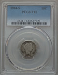 Barber Dimes: , 1904-S 10C Fine 12 PCGS. PCGS Population: (20/234). NGC Census: (5/104). CDN: $120 Whsle. Bid for problem-free NGC/PCGS Fin...