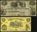 Canadian Currency: , Toronto, UC- Farmers Joint Stock Bank $5 Feb. 1, 1849 Ch. #280-12-06;. Toronto, ON- Bank of Toronto $5 Jan. 2, 1935 Ch....(Total: 2 notes)