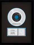 "Music Memorabilia:Awards, Elvis Presley RIAA Platinum Single Record Sales Award for""Jailhouse Rock"" (1992)...."